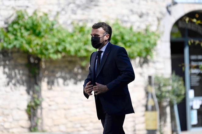 Emmanuel Macron, à Martel, dans le Lot, le 3 juin 2021.