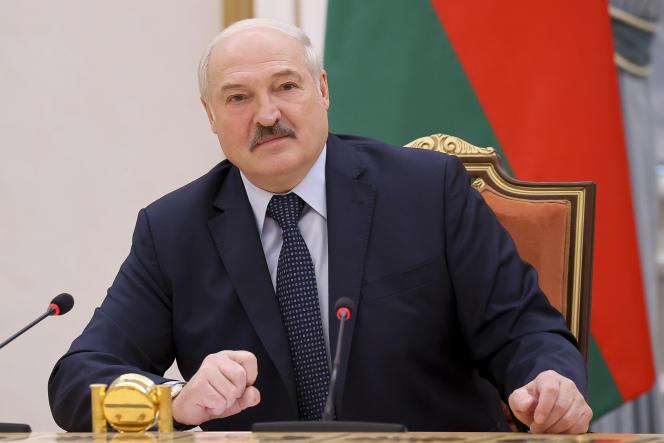 Belarusian President Alexander Lukashenko in May 2021 in Minsk.