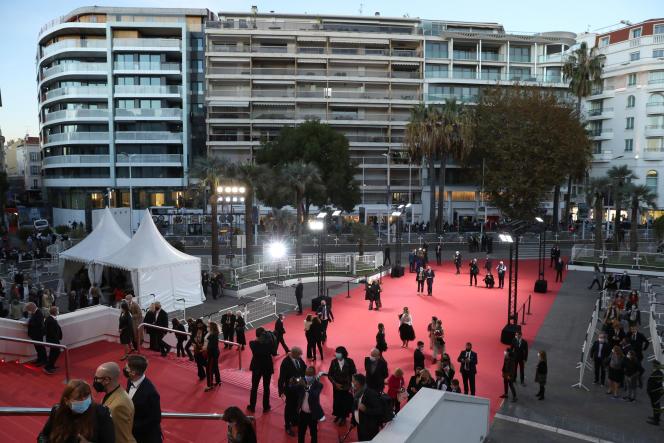 Au Palais des festivals et des congrès avant Cannes 2020 Special, une mini-version du Festival de Cannes, le 27octobre 2020.