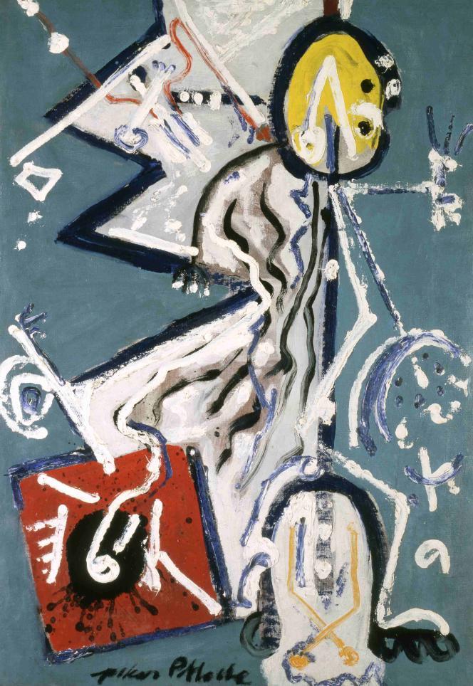 Jackson Pollock : «Direction» (1944), huile sur toile‒ Collection Peggy Guggenheim, Venise, Italie.
