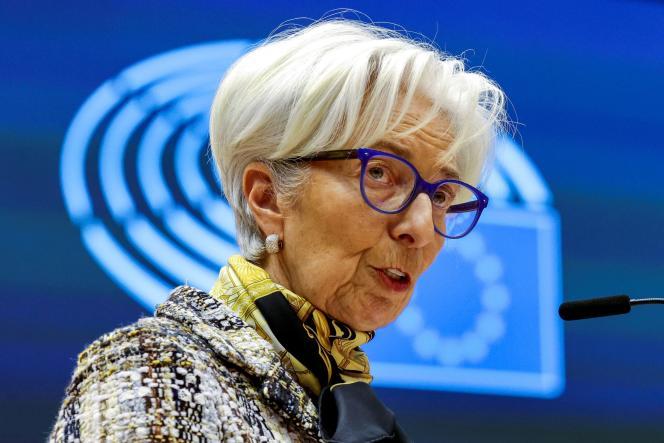 La présidente de la Banque centrale européenne, Christine Lagarde, à Bruxelles, le 8 février 2021.
