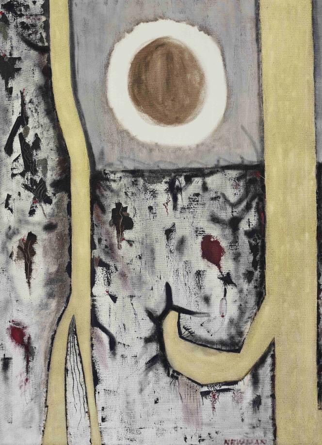 Barnett Newman : «Moment génétique [Genetic Moment]» (1946), huile sur toile ‒ Fondation Beyeler, Riehen/Bâle, Suisse.