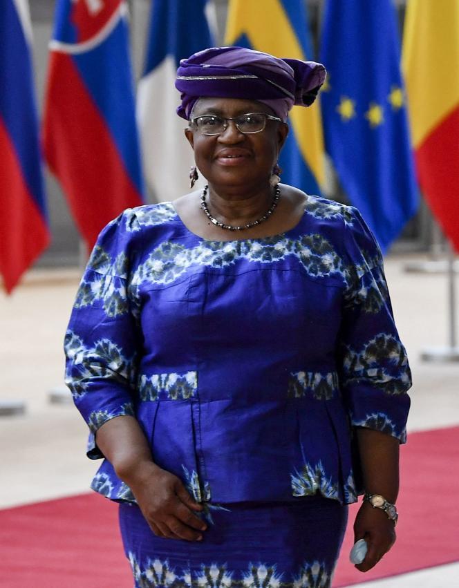Ngozi Okonjo-Iweala, avant une réunion au siège de l'Union européenne à Bruxelles, le 19 mai 2021.