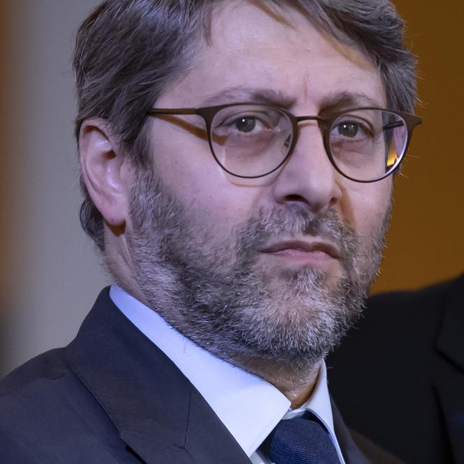 Le grand rabbin de France Haïm Korsia, lors de l'inauguration du Centre européen du judaïsme à Paris, le 29 octobre 2019.