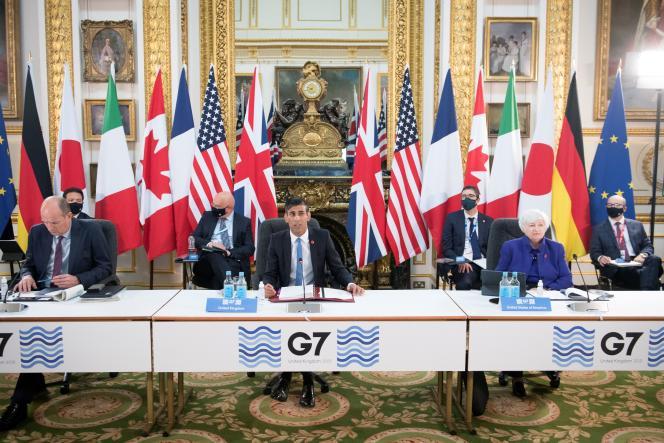 Au premier jour du G7 finances, à Londres, le 4 juin 2021.