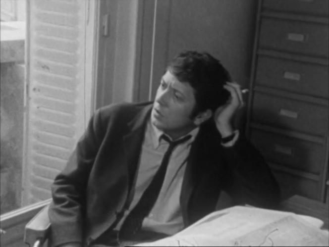 Image extraite de «La Journée d'un journaliste», de Nestor Almendros, avec Jacques Amalric, en 1967.