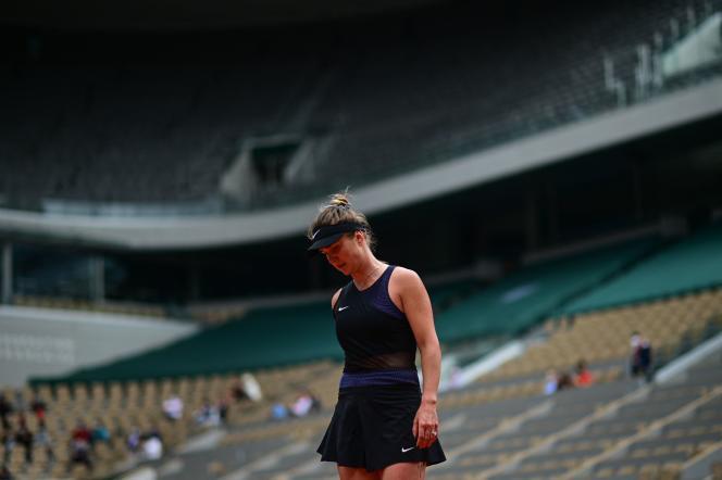 Elina Svitolina sur le court Philippe-Chatrier à Roland-Garros, le samedi 5 juin.