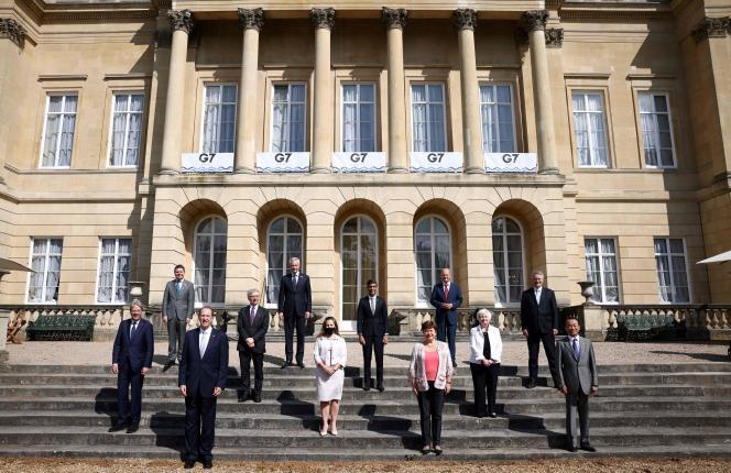 Réunion des ministres des finances du G7 à Lancaster House, à Londres, le 5 juin 2021.
