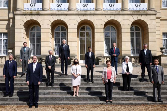 Le G7 finances a tenu une session de négociations de quarante-huit heures à Londres (Royaume-Uni), le 5 juin.