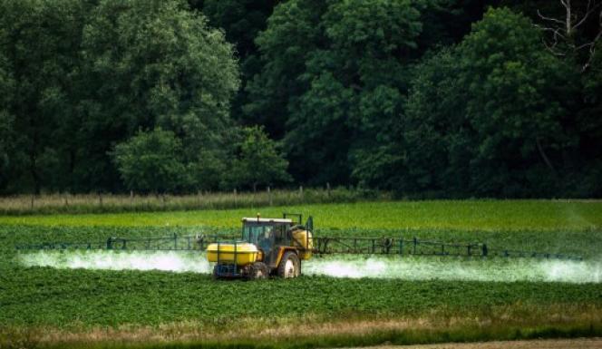 Epandage de pesticides à Bailleul, en juin 2015. Le dichloropropène, un produit classé cancérogène probable, a été utilisé pendant des décennies par les producteurs de carottes de Créances (Manche) et des environs.