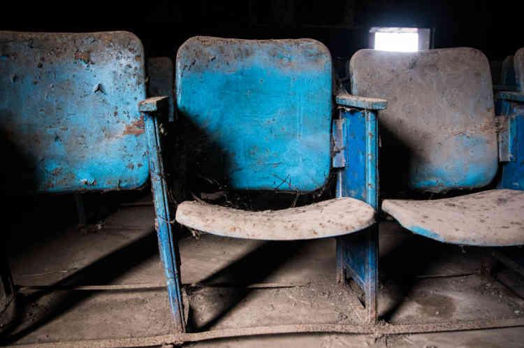 Dans le cinéma Le Dialogue, situé dans la commune de Yopougon, à Abidjan, en mai 2021.