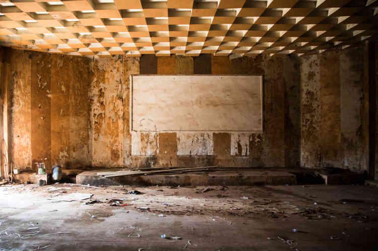 Ancienne salle du cinéma Le Fanny, situé à Bouaké, en mai 2021.