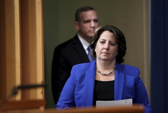La procureur générale adjointe Lisa Monaco, lors d'une conférence de presse, le 7 juin 2021, à Washington.