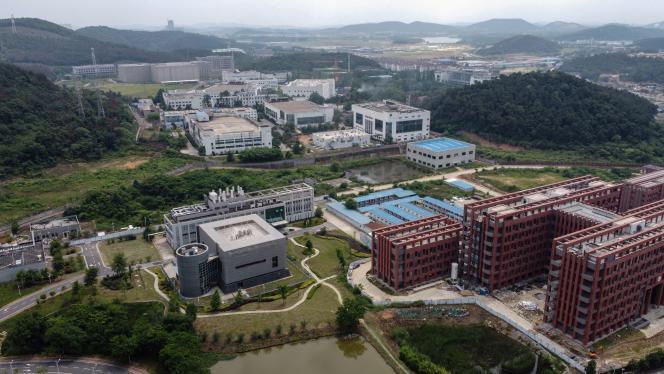 Das P4-Labor (links), auf dem Campus des Wuhan Institute of Virology, Provinz Hubei, China, 27. Mai 2020. Das 2018 eröffnete Labor erforscht die gefährlichsten Krankheiten der Welt.