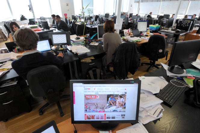 Chez Spartoo.com, à Grenoble, en 2012.