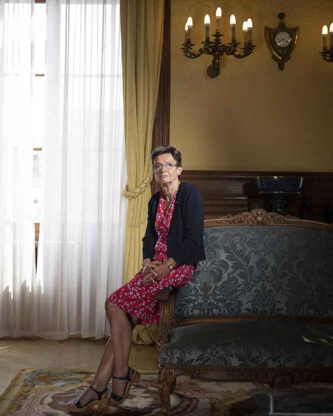 Catherine Champrenault, procureure générale près la cour d'appel de Paris, dans son bureau au Palais de justice, le 2juin.