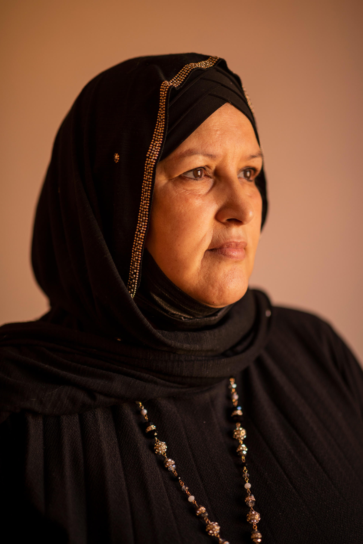 Sabah Hamed, 59ans, vient d'une famille habituée à aider et à s'engager.