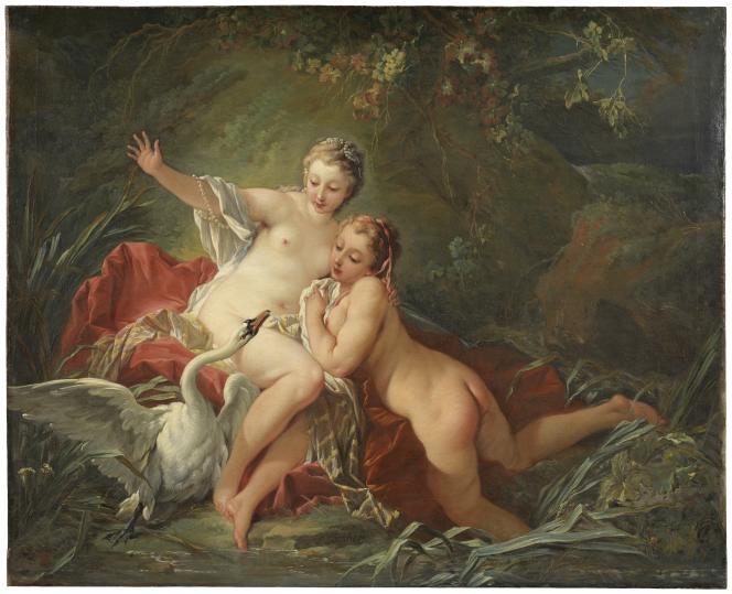François Boucher : «Léda et le Cygne» (1742), huile sur toile – Nationalmuseum,Stockholm (Suède).