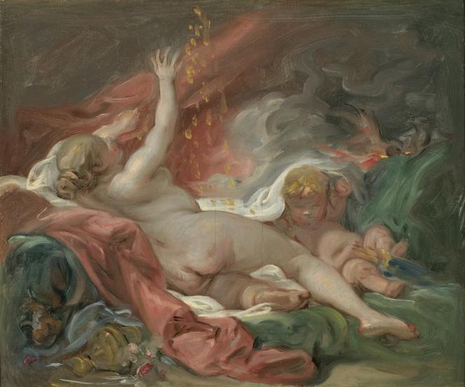 François Boucher :« Danaé recevant la pluie d'or» (vers 1740), huile sur toile– Nationalmuseum,Stockholm (Suède).