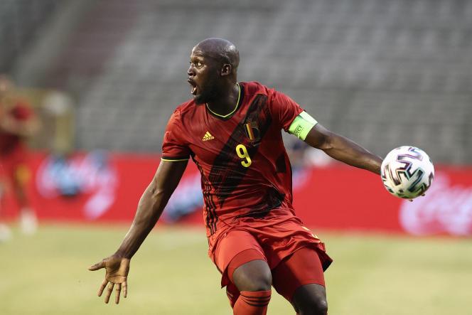 Le Belge Romelu Lukaku lors d'un match contre la Grèce, le 3juin 2021.