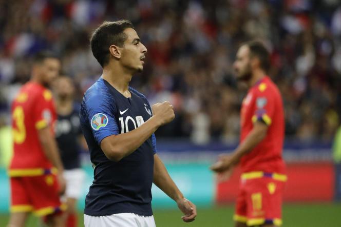 Le Français Wissam Ben Yedder lors d'un match contre Andorre, le 10septembre 2019.