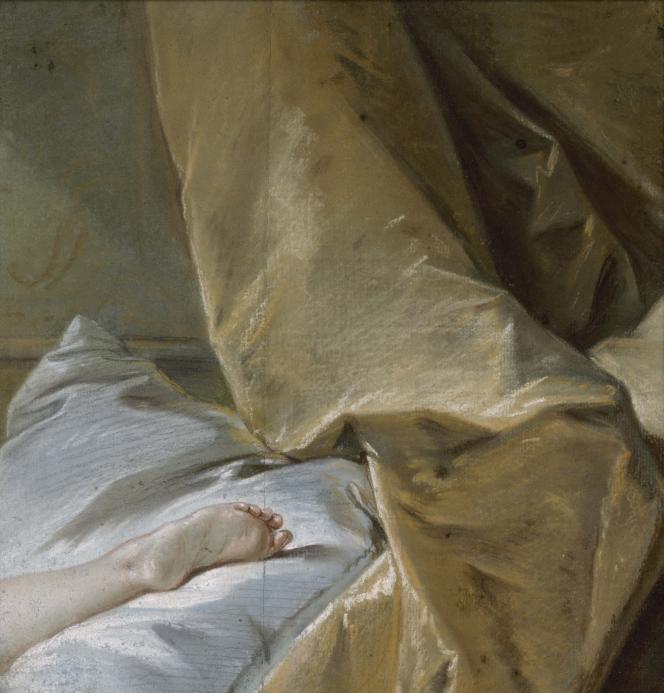 François Boucher : «Etude de pied pour L'Odalisque blonde» (vers 1751), pastel – Musée Carnavalet, Paris (France).