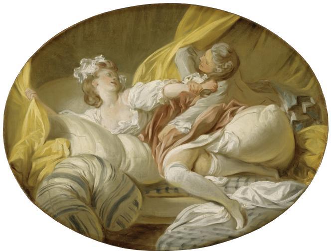 Jean-Honoré Fragonard :«La Résistance inutile» (vers 1770-1773), huile sur toile – Nationalmuseum,Stockholm (Suède).