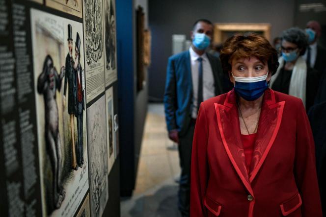 La ministre de la culture Roselyne Bachelot au Musée d'Orsay, le 25 mai2021, à Paris.