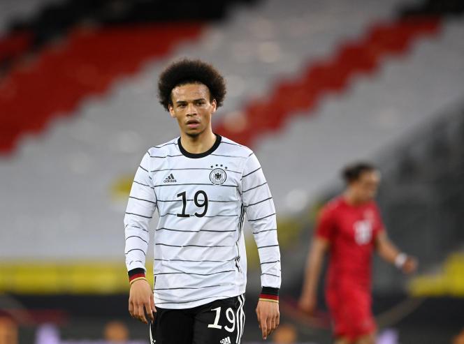 L'Allemand Leroy Sané lors d'un match contre le Danemark, le 2juin 2021.