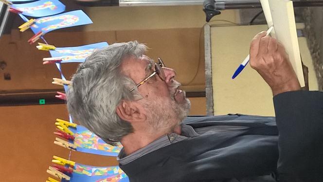 L'écrivain italien Domenico Starnone, à Mantoue, en 2017.