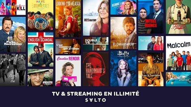 Page d'accueil de Salto, plate-forme de streaming en ligne sur abonnement, créée par France Télévisions, TF1 et M6.