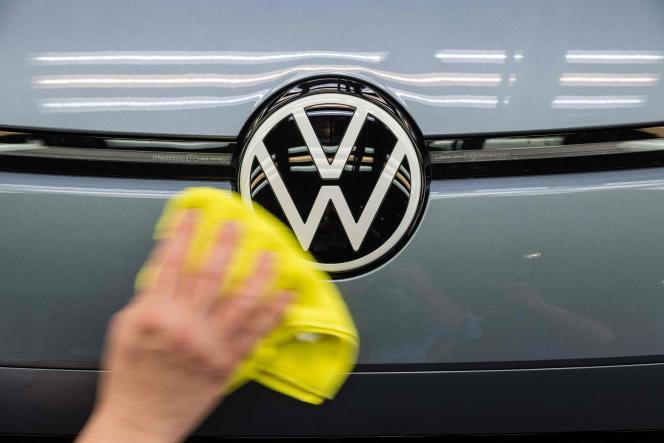 Dans une usine Volkswagen à Dresde, en Allemagne, le 8 juin 2021.