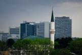Le Centre islamique de Vienne, l'une des plus importantes mosquées d'Autriche, en 2017.