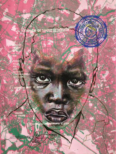 « www.look of hopes@.com, #4 », de Jean-David Nkot, 2021.