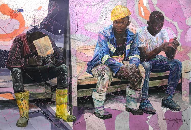 « ##/@tiredbody##», de Jean-David Nkot, 2021.