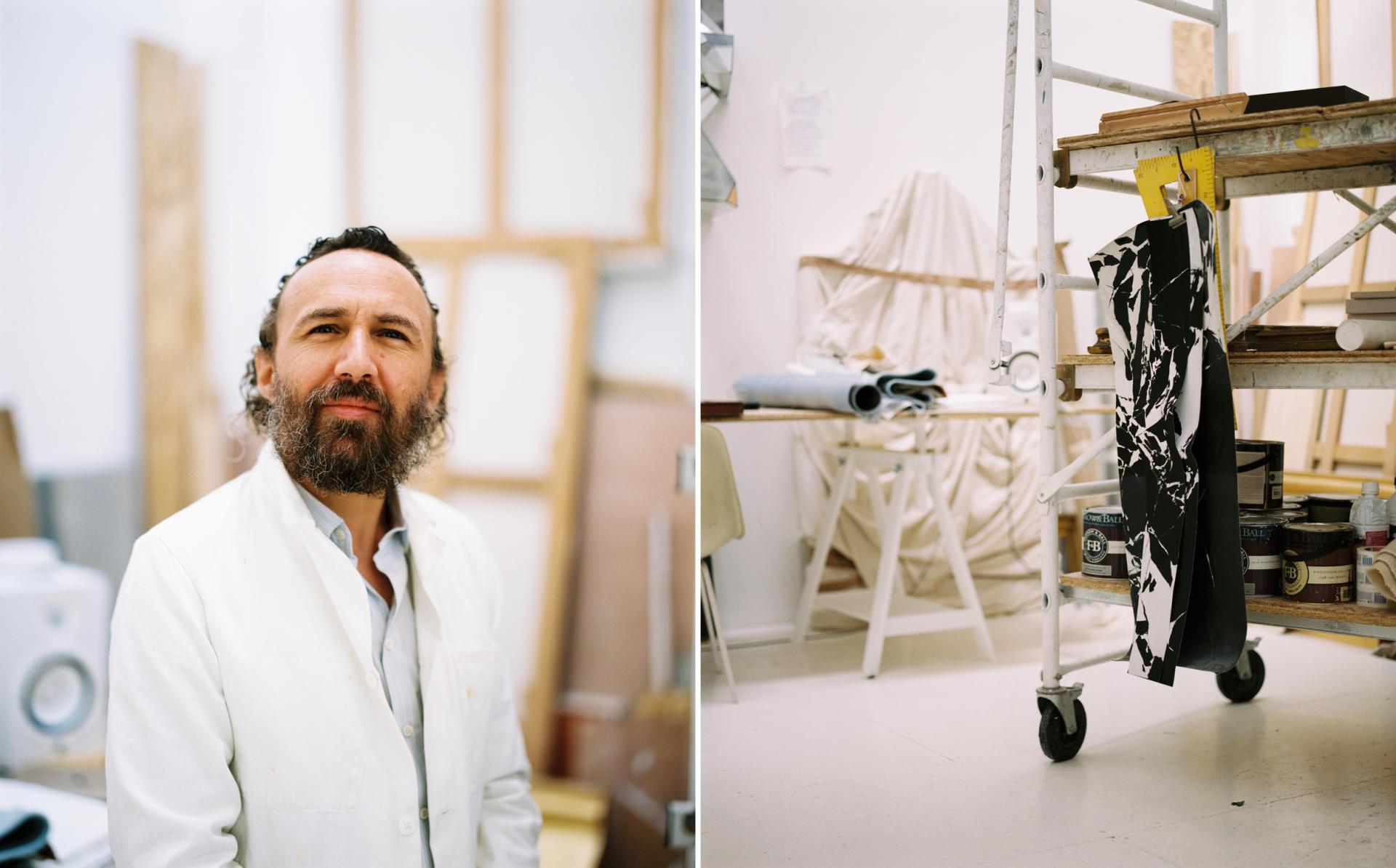 L'artiste Mathias Kiss dans son atelier à Paris, le 12avril 2021.