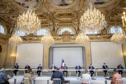 Conseil des ministres à l'Elysée, à Paris, le 9 juin 2021.
