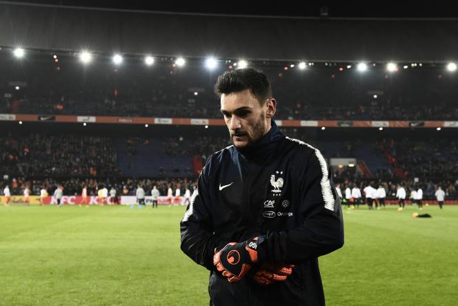 Hugo Lloris avant la rencontre entre les Pays-Bas et la France le 16 novembre 2018 à Rotterdam.