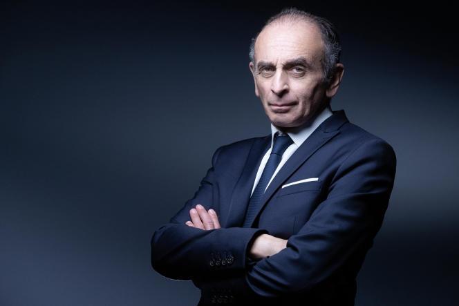 L'idéologue d'extrême droite Eric Zemmour, à Paris, le 22 avril 2021.
