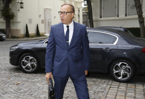 Doctor of Science and physics Ghaleb Bencheikh arrives for a meeting with Interior minister and representatives of the Muslim community on August 29, 2016 in Paris. (Photo by MATTHIEU ALEXANDRE / AFP)