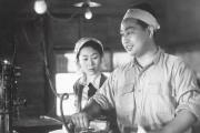 Masako Takahara (Kinuyo Tanaka) etson mari Ryosuke (Masao Mishima) dans« La Mère» (1952), de Mikio Naruse.