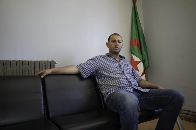Mokrane Labdouci, maire de la commune de Béni Maouche, dans son bureau, le 10 juin 2021.
