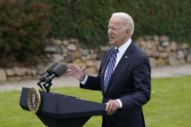 Joe Biden à son arrivée en Angleterre pour participer au G7, jeudi 10 juin 2021.