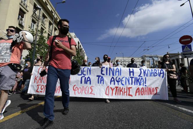 A Athènes, jeudi 10 juin 2021.