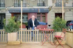 Yoann Riou sur la terrasse du restaurant Le Beurre Noisette, le 10 juin 2021.