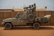 La force militaire française Barkhane, dans la base de Gao, au Mali, le 7 juin 2021.