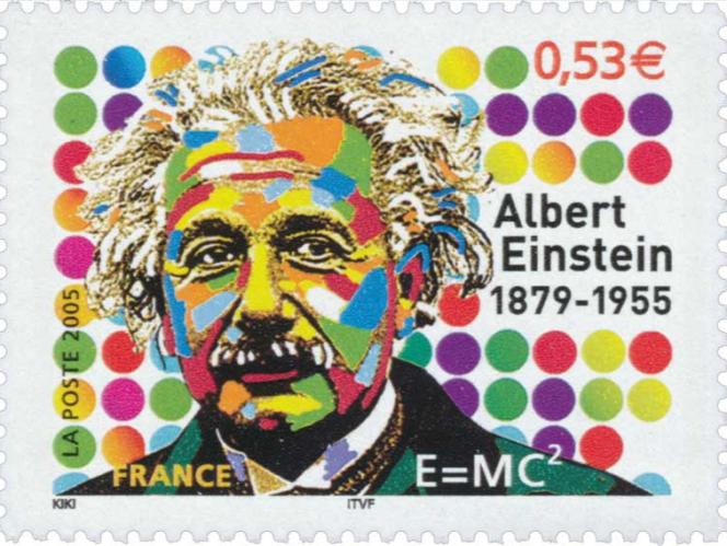 « Albert Einstein», timbre signé Kiki Picasso paru en 2005.