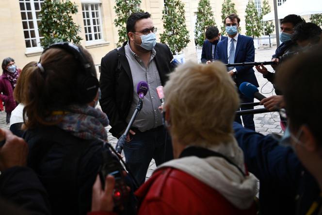 Grégoire Fraty, alors co-président de la convention citoyenne pour le climat, à l'hôtel Matignon, le 30 septembre 2020.