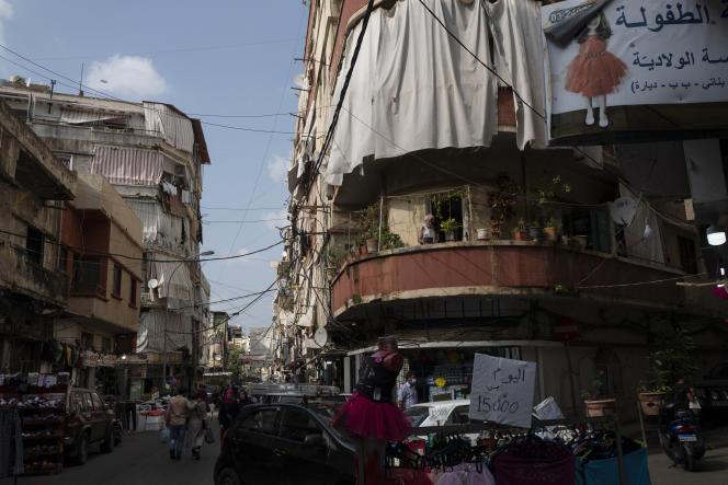 Dans le quartier populaire de Nabaa, à Beyrouth, le 26 avril 2021.