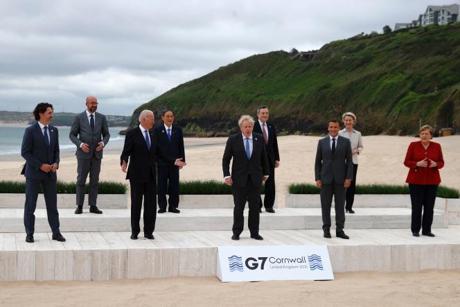 Lors du G7, dans le sud-ouest de l'Angleterre, le 11 juin 2021.
